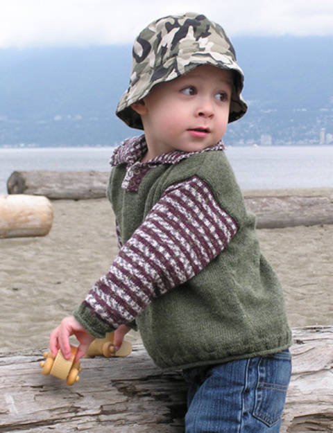 Kieran childrens sweater - hand knitting pattern