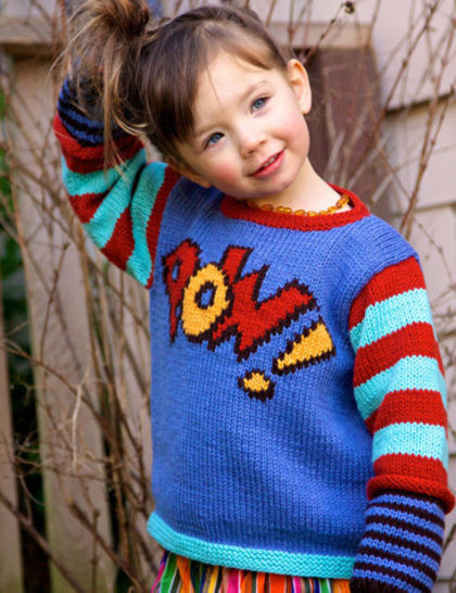 Onomatopoeia childrens pullover - hand knitting pattern at Makerist - Image 1