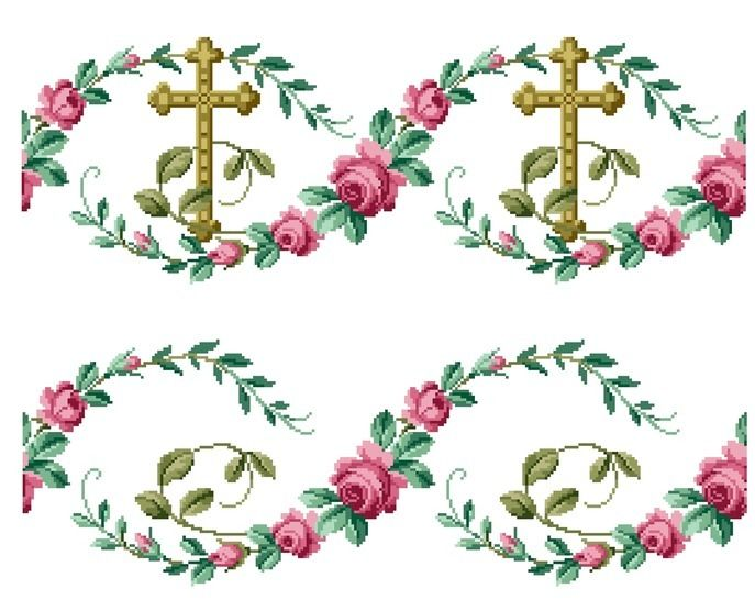 Cross and roses. Cross stitch pattern at Makerist - Image 1