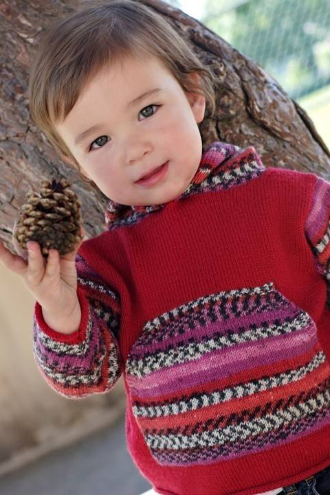Ruby baby and childrens hoodie - hand knitting pattern