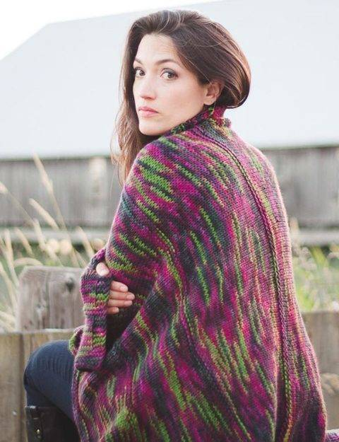 Ebb & Flow blanket - hand knitting pattern