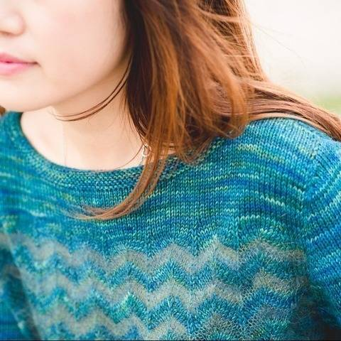 Eventide womens pullover - hand knitting pattern