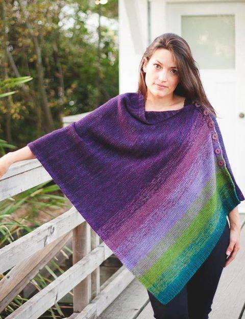 Haven poncho - hand knitting pattern