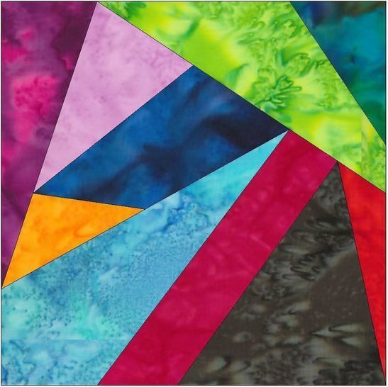 Crazy Block 1 Patch 10 Inch Paper Piece Foundation Quilting Pattern at Makerist - Image 1