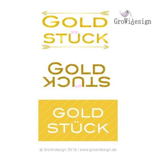 Statement Goldstück Plotterdatei bei Makerist - Bild 1