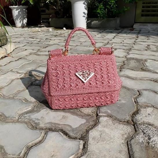 Beautiful bag in shell stitch at Makerist - Image 1