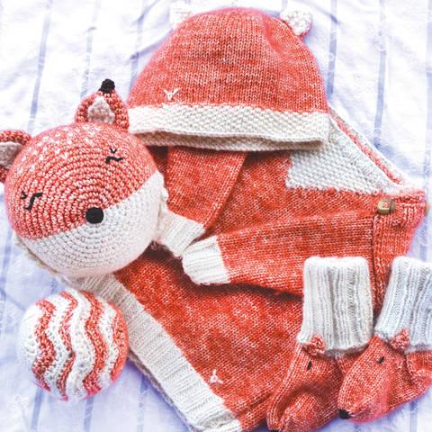 Fuchs Baby Erstlingsausstattung Set groß - Strick und Häkelanleitungen
