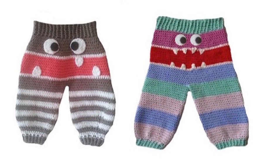 "E-Book ""Monster Trousers"" 0-9 month at Makerist - Image 1"