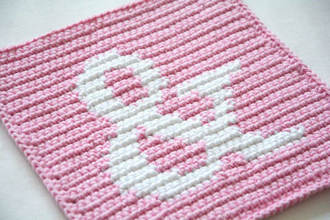 Ampersand Potholder Pattern (with Crochet Basics)