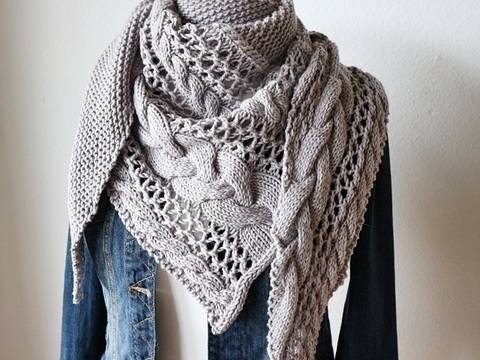 "Strickanleitung Tuch ""Cozy Winter"" bei Makerist"