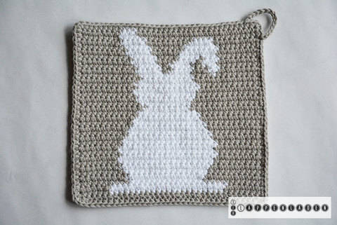 Easter  Potholder Pattern (with Crochet Basics)