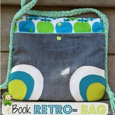 Ebook Retro Bag , Nähanleitung, Umhängetasche