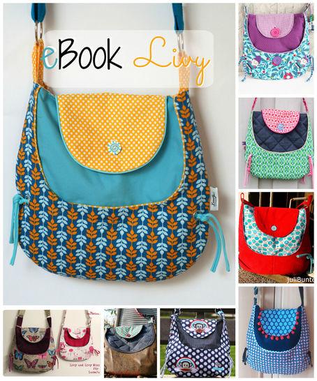 Ebook Tasche Livy, Nähanleitung, Schnitt bei Makerist - Bild 1