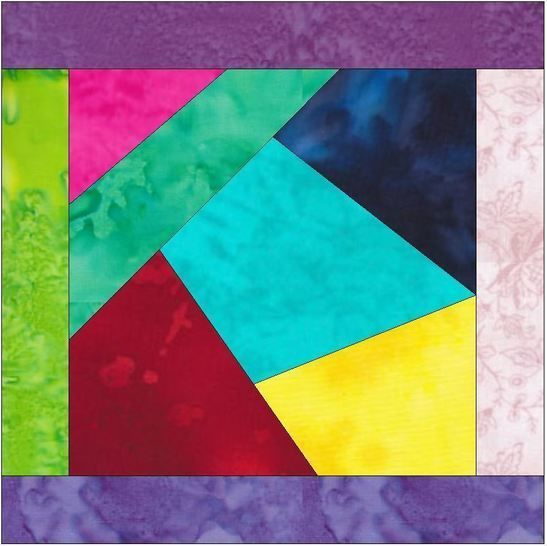 Crazy Block Patch 4 - 10 Inch Paper Piece Foundation Quilting Pattern at Makerist - Image 1
