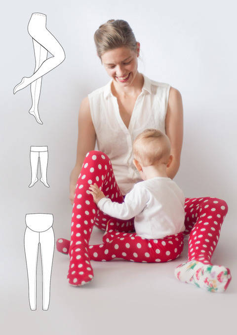 "Strumpfhose/Leggings ""Prinz(essin)en-Büx"" Damen Gr. 32-60, Kinder Gr. 50-170 bei Makerist"