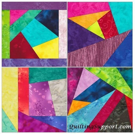 Crazy Block Patch 10 Inch Paper Piece Foundation Quilting Pattern at Makerist - Image 1