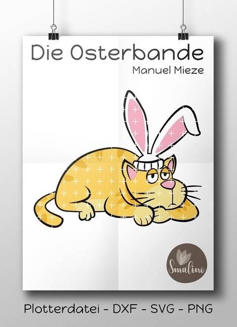 Die Osterbande Manuel Mieze Plottervorlage 6-farbig DXF SVG PNG