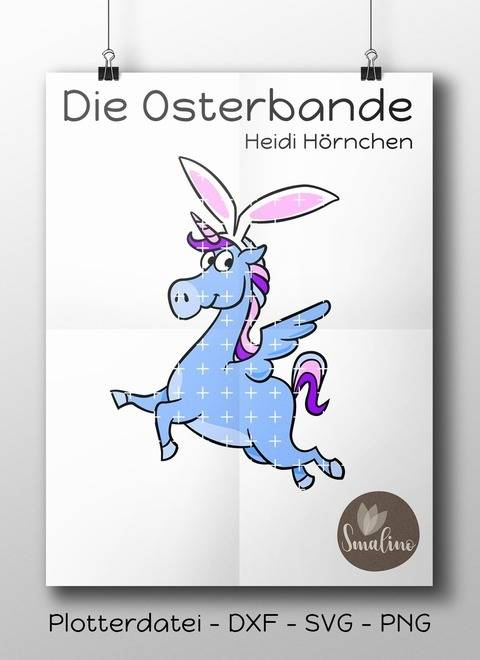 Die Osterbande Heidi Hörnchen Plottervorlage 7-farbig DXF SVG PNG