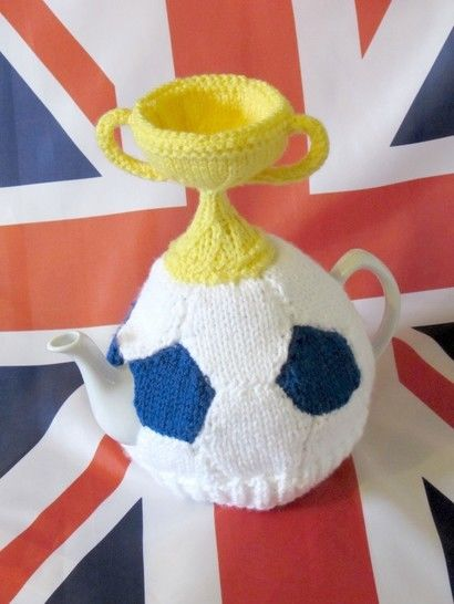 Football and World Cup Trophy Tea Cosy at Makerist - Image 1