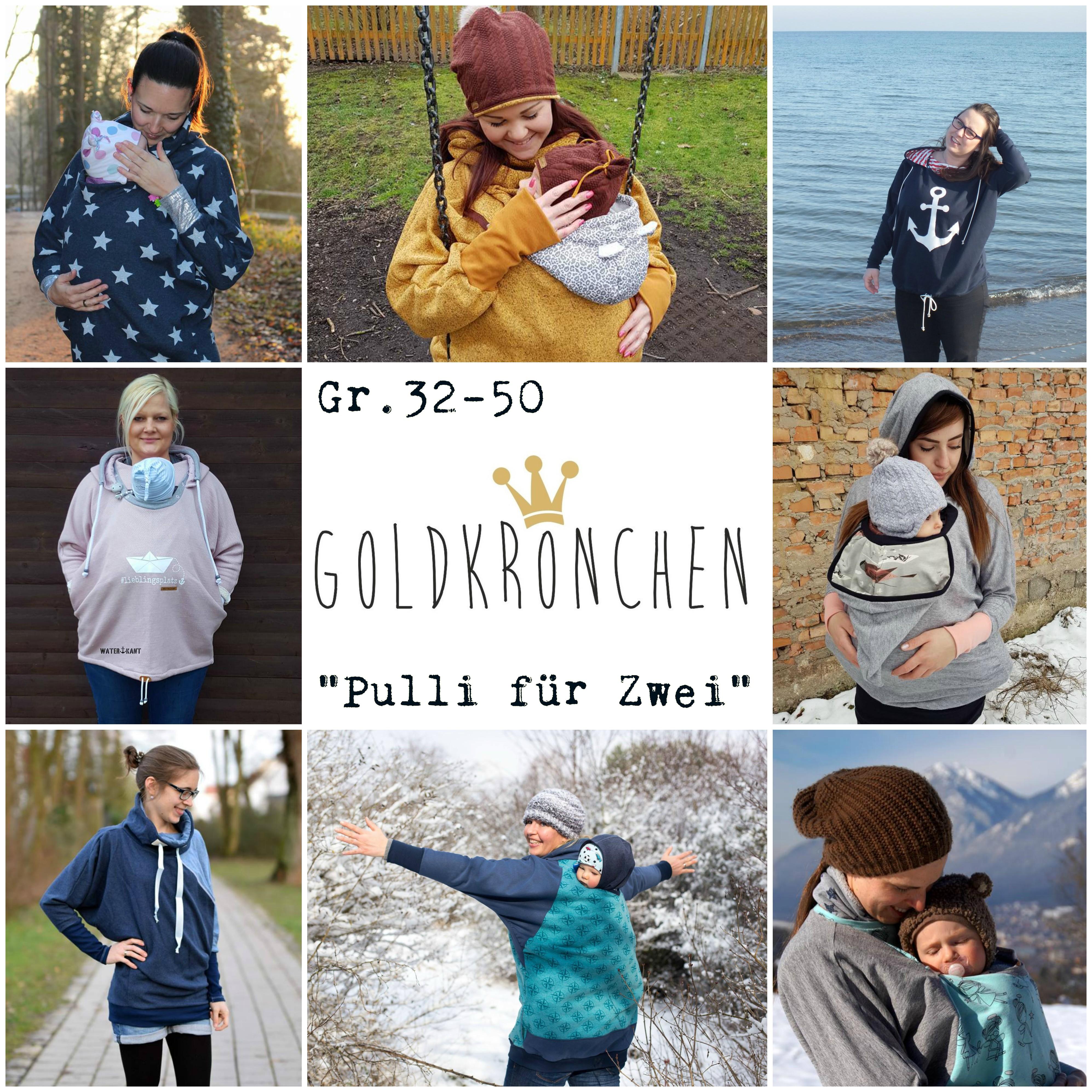 """""""Pulli für Zwei"""" / Tragepullover/ Oversized Hoodie Ebook Gr.32-50"""
