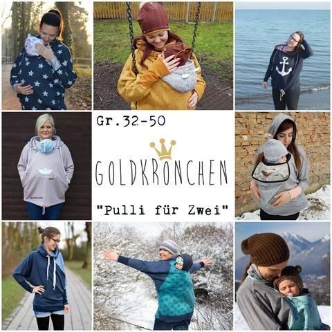 """""""Pulli für Zwei"""" / Tragepullover/ Oversized Hoodie Ebook Gr.32-50 bei Makerist"""