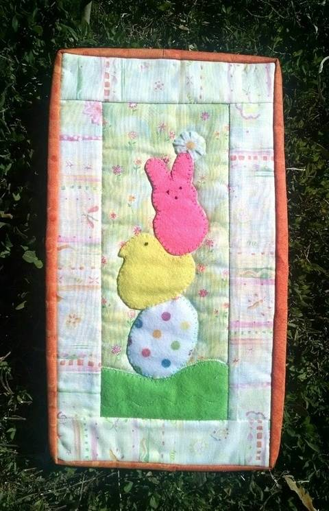 Spring Candy Quilted Mug-Rug