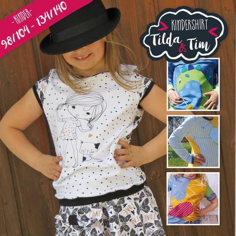 Ebook Kindershirt Tilda & Tim 98/104 - 134/140