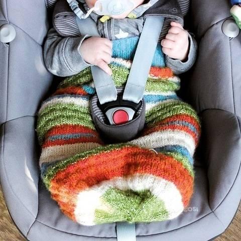 Pucksack/Schlafsack für Neugeborene und Babys stricken