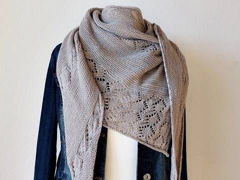 "Knitting pattern shawl ""Cloudy Day"""