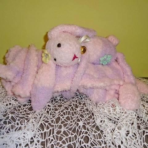 Baby-Decke mit Häschen, Strickanleitung von DaDaDe