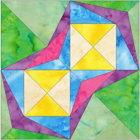 Falling Star 15 Inch Template Quilting Block Pattern at Makerist - Image 1