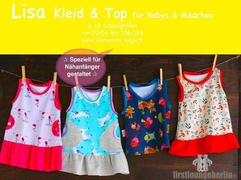 Lisa Kleid & Top Babykleid Kinderkleid nähen Shirtkleid