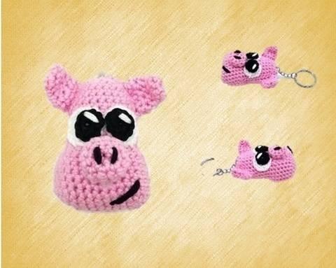 Sprinkles das Schweinchen (Schlüsselanhänger)