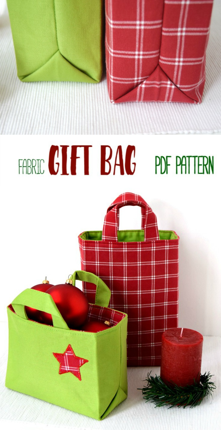 Fabric Gift Bag 6 Sizes Instructions