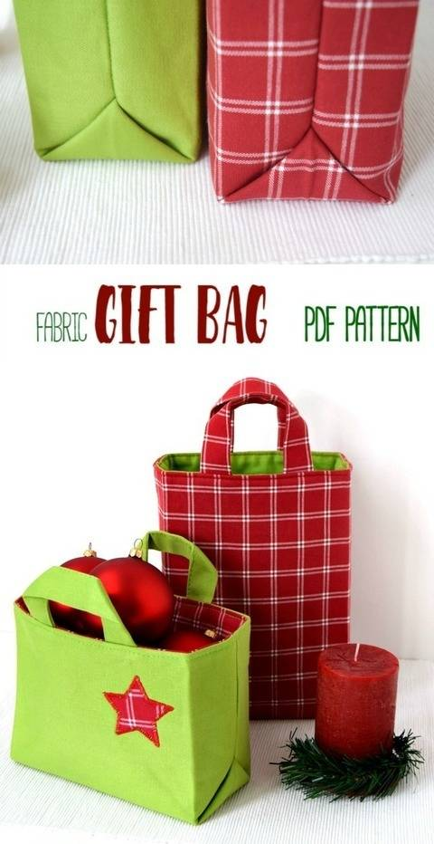 Fabric Gift Bag - 6 Sizes + Instructions