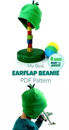 photograph relating to Printable Sewing Pattern referred to as My Great Earflap Beanie Hat - 8 Measurement Printable Sewing Behavior+Thorough guidance