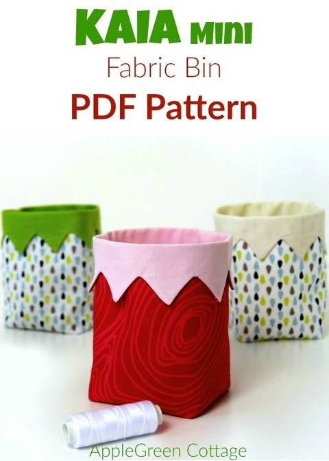KAIA The CUTEST Fabric Bin - Sewing Pattern