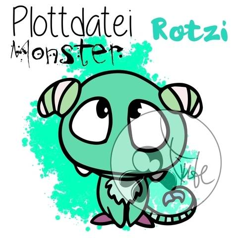 "Plottdatei Monster ""Rotzi"""