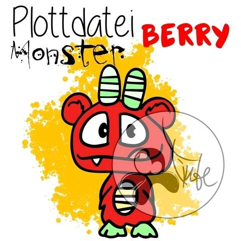 "Plottdatei Monster ""Berry"""