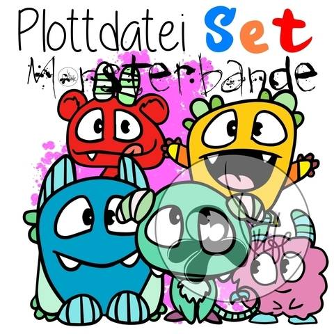 "Plottdatei Monster ""die ganze Monsterbande"" Set"