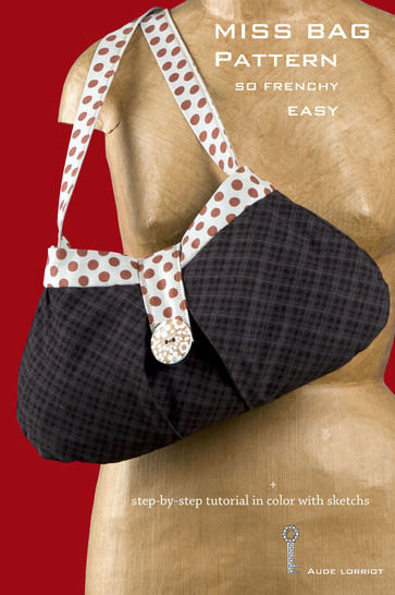 sewing PATTERN TUTORIAL MISS FRENCHY BAG at Makerist - Image 1
