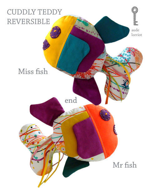 PATTERN/TUTORIAL CUDDLY TEDDY MRS and MR FISH at Makerist