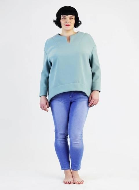 Schnittmuster und bebilderte Nähanleitung Shirt Betty Plussize / Große Größen