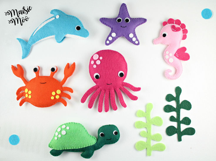 Felt Sea Creatures Pattern Under The Sea Baby Mobile Pattern  at Makerist - Image 1