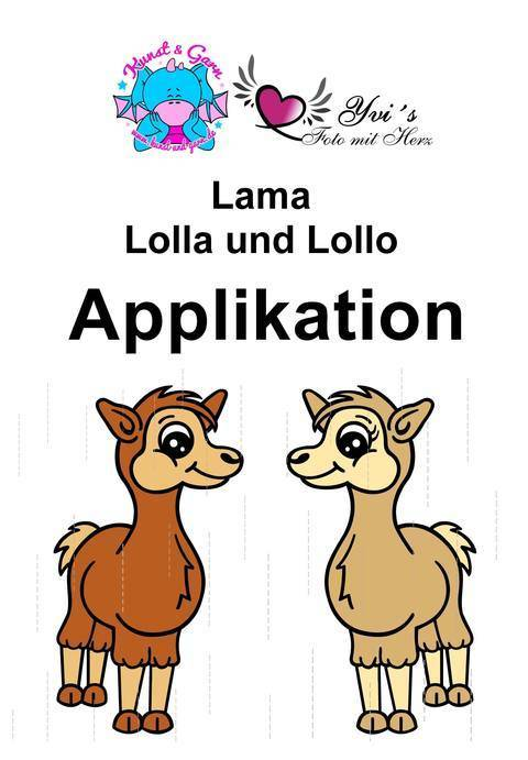 Applikationsvorlage Lamas Lolla & Lollo
