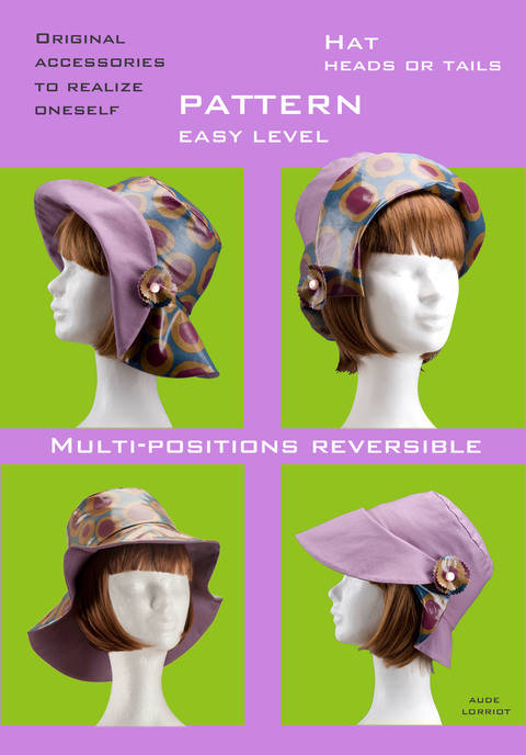 pattern/tutorial COATED Hat heads or tails