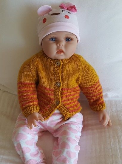Babies striped raglan cardigan - Juniper at Makerist - Image 1