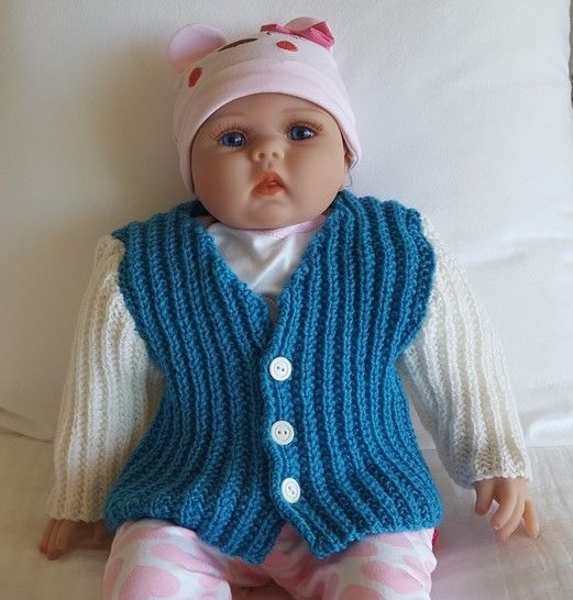 Babies 8ply broken rib cardigan - Joey at Makerist - Image 1