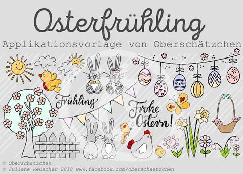 Applikationsvorlage Osterfrühling bei Makerist