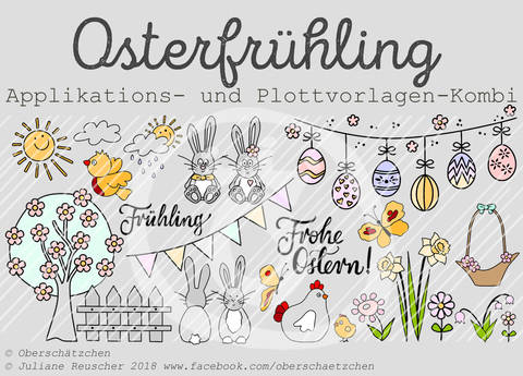 Appli- und Plott-Kombi Osterfrühling